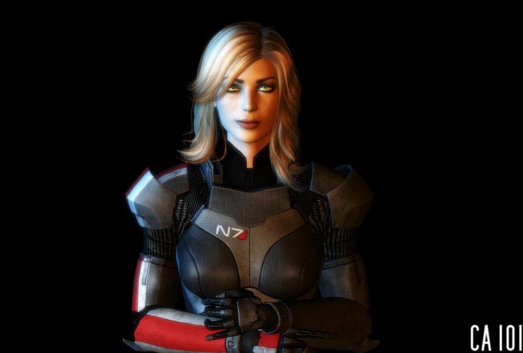 Шепард - Фан-арт Mass Effect 3