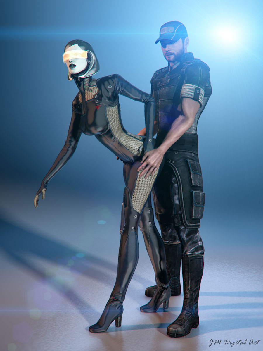 Джокер и СУЗИ - Фан-арт Mass Effect 3 Сузи Косплей